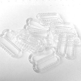 Regulador de plástico transparente para tirante de lencería-14mm