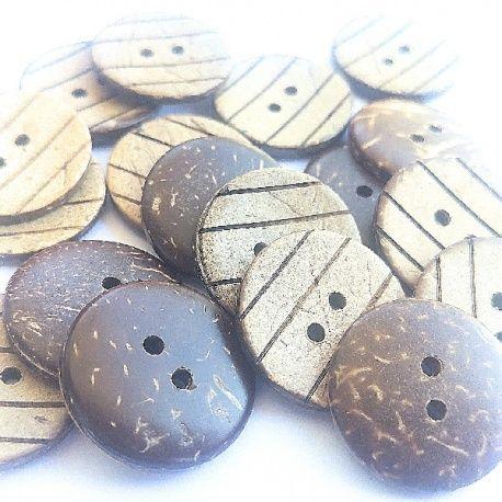Botón Coco de rayas 2,3cm