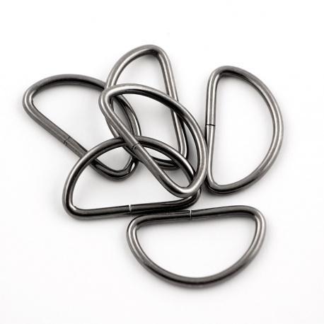 Piquetes de 32mm semicircular negro
