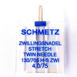 Aguja Doble Schmetz Stretch 4mm
