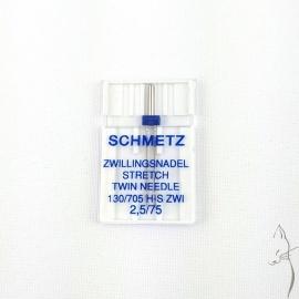 Aguja Doble Schmetz Stretch 2'5mm