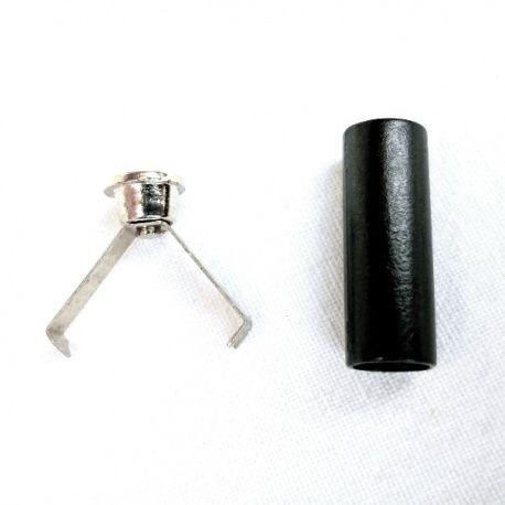 Terminal plástico y metal para cordón de 4mm