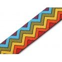 Cinta tejida decorativa estampado geométrico