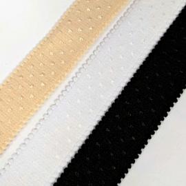 Tirante elástico firme ancho blanco