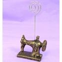 Máquina de coser vintage con soporte para fotos