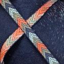 Cinta tejida decorativa Flecha Rosa-Gris