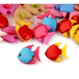 Botón Pececitos de Colores