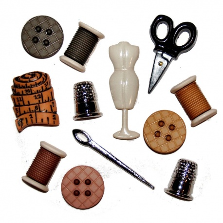 Botones Decorativos Útiles de costura