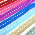 Puntilla elástica decorativa colores