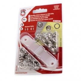 Botones metálicos automáticos (snap) 11mm (bebé)