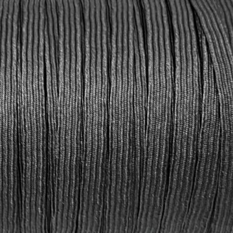 goma elástica plana negra de 6mm