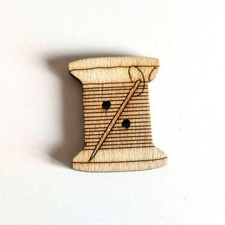 Botones Decorativos Costura de madera