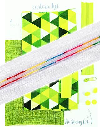 Combo Kit cartera Koi + cremallera Rainbow blanca