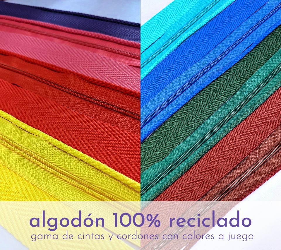 gama de algodón 100% reciclado
