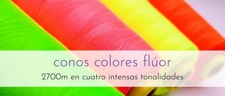Conos color flúor