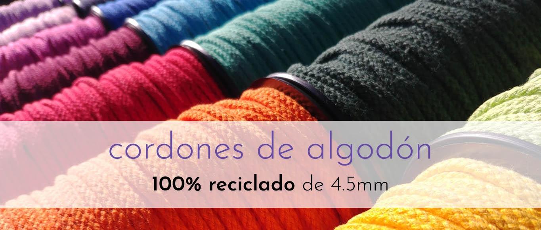 Cordones de algodón 100% reciclado