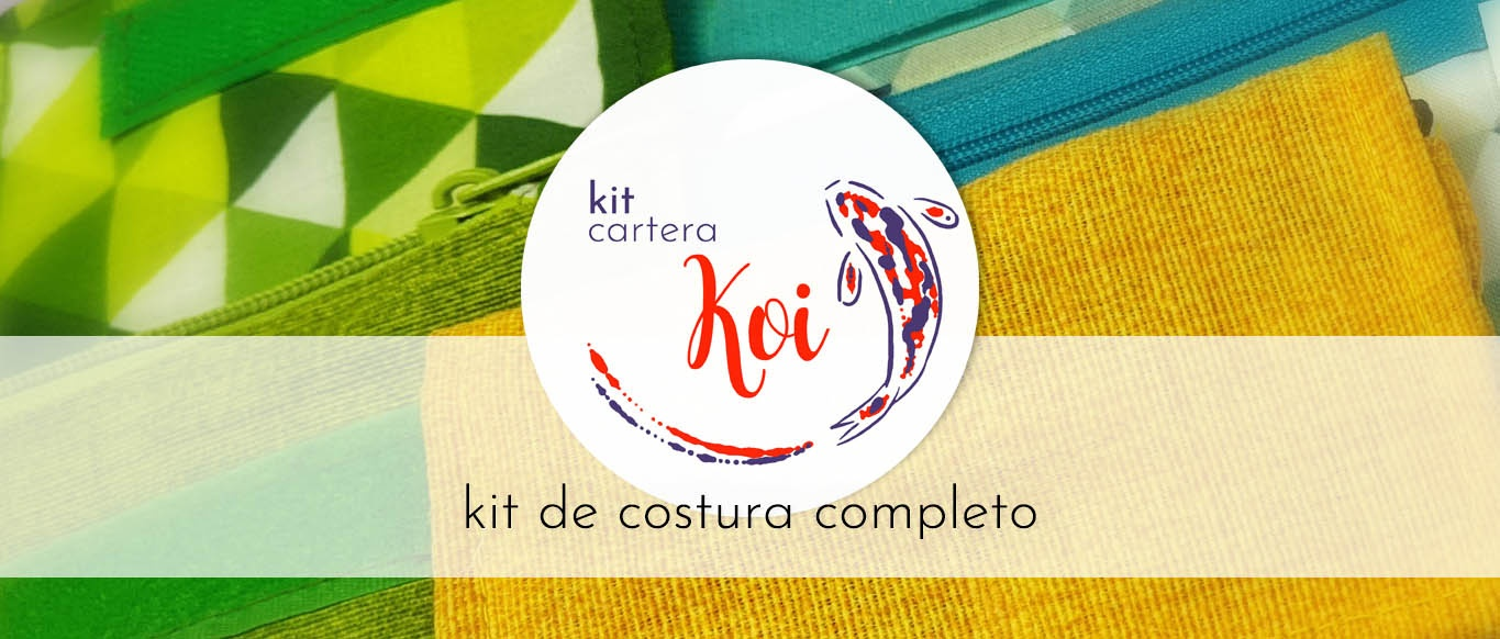 Kit de costura cartera Koi