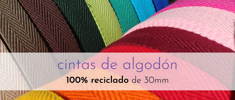 Cintas de algodón 100% reciclado