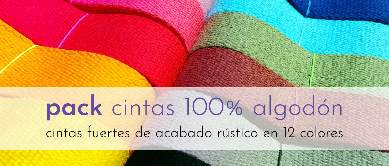 Pack cintas 100% algodón