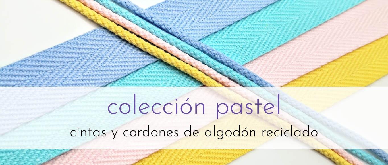 Cintas y cordones de color pastel