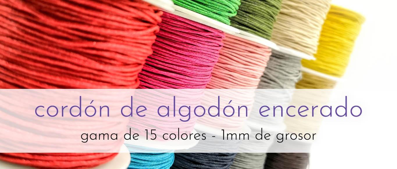 Cordón fino algodón encerado 1mm