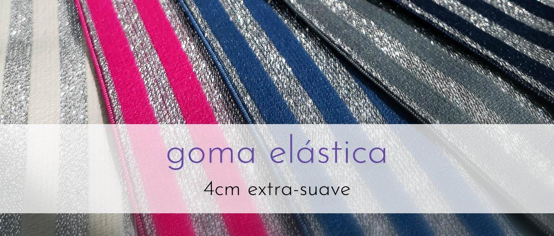 Gomas elásticas 4cm extrasuave - plata