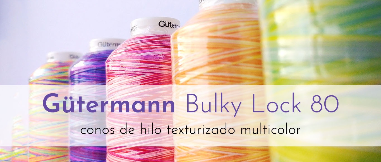 Hilo espuma Bulky Lock Gütermann multicolor